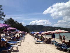 Rows of chairs at Patong Beach